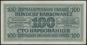 R.597a: Besetzung Ukraine 100 Karbowanez 1942 1-stellig (1-)
