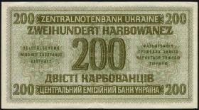 R.598b: Besetzung Ukraine 200 Karbowanez 1942 (3+) Serie 2