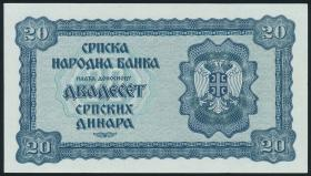 R.606: Serbien 20 Dinara 1942 (1)