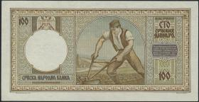 R.608: Serbien 100 Dinara 1942 (1-)