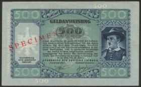 R.614M2: Laibach 500 Lire 1944 Specimen (2)