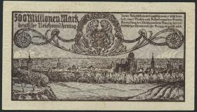 R.807b: Danzig 500 Millionen Mark 1923 (2)