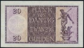 R.842: Danzig 20 Gulden 1932 (2+)
