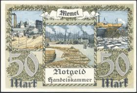 R.852b: Memelgebiet 50 Mark 1922 (1/1-)