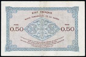 R.865: Saarfranken 50 Centimes 1930 (3+)