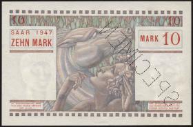 R.870M: Saarland 10 Mark 1947 Specimen (1)