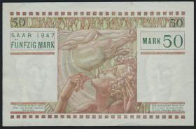 R.871: Saarland 50 Mark 1947 (2)