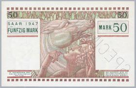R.871M: Saarland 50 Mark 1947 SPECIMEN 00000(1)