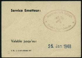 R.873: Saarland 0,50 Mark (1947) (1/1-)