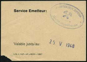 R.879: Saarland 1 Saarmark (1947)