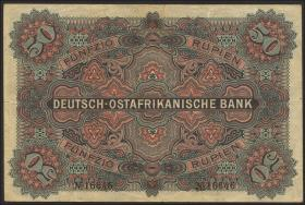 R.902d: Deutsch-Ostafrika 50 Rupien 1905 5-stellig (2-)