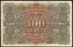 R.903a: Deutsch-Ostafrika 100 Rupien 1905 (3)