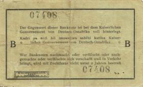 R.9215: Deutsch-Ostafrika 1 Rupie 1915 B (3)