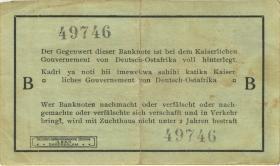 """R.916a: Deutsch-Ostafrika 1 Rupie 1915 B (3) """"Häge"""""""
