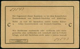 R.916e: Deutsch-Ostafrika 1 Rupie 1915 C (1-)