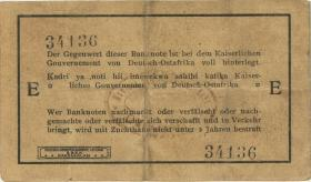 """R.918a: Deutsch-Ostafrika 1 Rupie 1915 E (3) """"ovaler Bankstempel"""""""