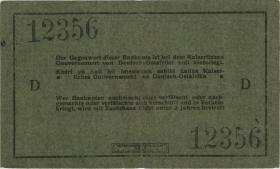 """R.921a: Deutsch-Ostafrika 5 Rupien 1915 D (3) """"Seidenschwarz"""""""