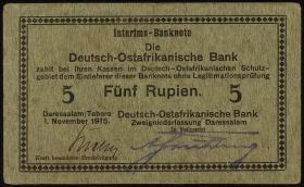 R.921c: Deutsch-Ostafrika 5 Rupien 1915 D (2)