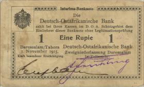 R.931b: Deutsch-Ostafrika 1 Rupie 1915 mit Überdruck X (3)