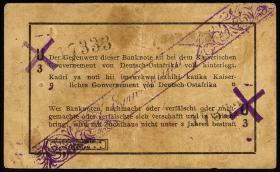 R.931c: Deutsch-Ostafrika 1 Rupie 1915 mit Überdruck X (3)