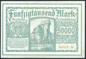 R.797a: Danzig 50000 Gulden 1923 (3+)