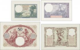 R.866A-866D: Saar 5, 10, 50 und 100 Francs (1920) Druckprobe