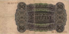 R.170a: 50 Reichsmark 1924 M/M (3)