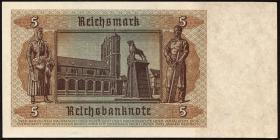 R.179e: 5 Reichsmark 1942 mit Sparkassenstempel Luxemburg (1)