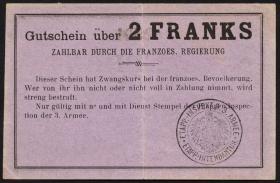 R.426: Frankreich 2  Francs (1915) Specimen (3)