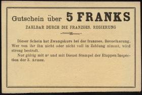 R.428: Frankreich 5 Francs (1915) Specimen (1)