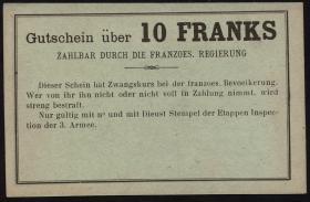 R.429: Frankreich 10 Francs (1915) Specimen (1)