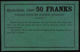 R.431: Frankreich 50 Francs (1915) Specimen (1-)