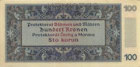 R.560b: Böhmen & Mähren 100 Kronen 1940 Specimen (1)