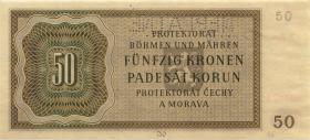 R.564c: Böhmen & Mähren 50 Kronen 1944 Neplatne (1/1-)