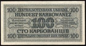 R.597a: Besetzung Ukraine 100 Karbowanez 1942 (2)