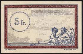R.860c: Rheinland 5 Francs (1923) Specimen (1/1-)