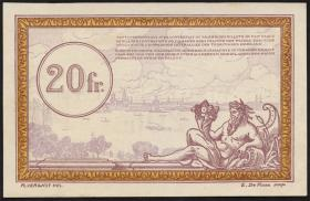 R.862c: Rheinland 20 Francs (1923) Specimen (1)