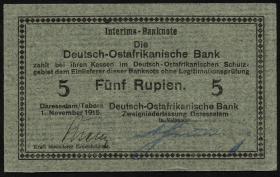 R.920 Deutsch-Ostafrika 5 Rupien 1915 D (1)
