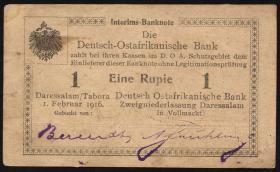 R.929sB2: Deutsch-Ostafrika 1 Rupie 1916 R3 (2)