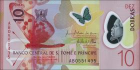 St. Thomas / Saint Thomas and Prince P.neu 10 Dobras 2016 Polymer (1)