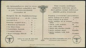 Litauen / Lithuania LT 19b: 5 Punkte 30.4.1945 (2)