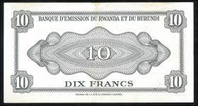 Ruanda / Rwanda P.02 10 Francs 1960 (2)