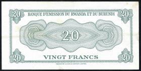 Ruanda / Rwanda P.03 20 Francs 1960 (2)