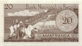 Ruanda / Rwanda P.06a 20 Francs 1969 (1)