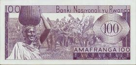 Ruanda / Rwanda P.08a 100 Francs 1964 (1)