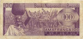 Ruanda / Rwanda P.08a 100 Francs 1969 (3)