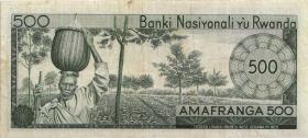 Ruanda / Rwanda P.09b 500 Francs 1971 (3)