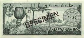 Ruanda / Rwanda P.09s 500 Francs 1969 Specimen (3)