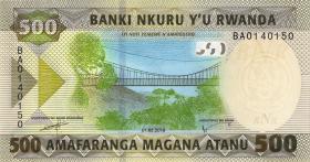 Ruanda / Rwanda P.neu 500 Francs 2019 (1)