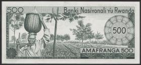 Ruanda / Rwanda P.09b 500 Francs 1976 (1)